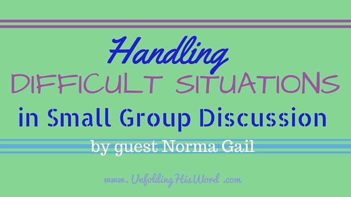 Handling Difficult Situations in Small Group Discussion