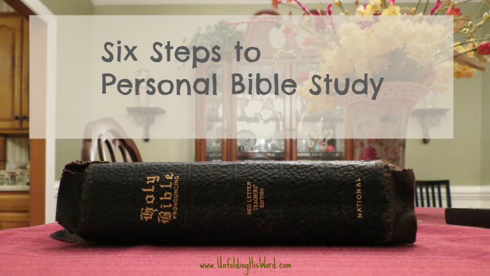 Six Steps to Personal Bible Study