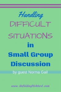 Handling difficult situations in group discussion by Norma Gail